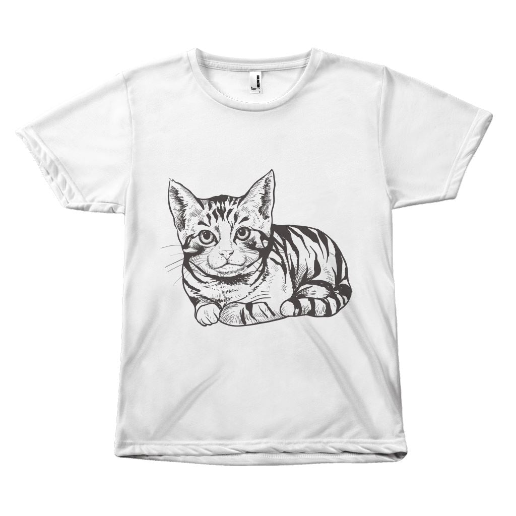 "Adorable ""Black & White Cat Vector"" T-shirt All Over Print teelaunch B&W S"