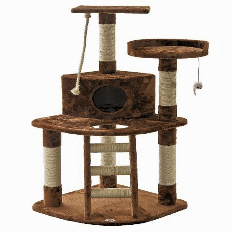 Adorable Cat Post Condo Tree Scratcher Cat Trees & Scratching Posts Pet Clever