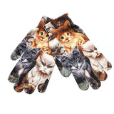Adorable Touch Screen Winter Gloves for Smart Phones Cat Design Accessories Pet Clever Many cats
