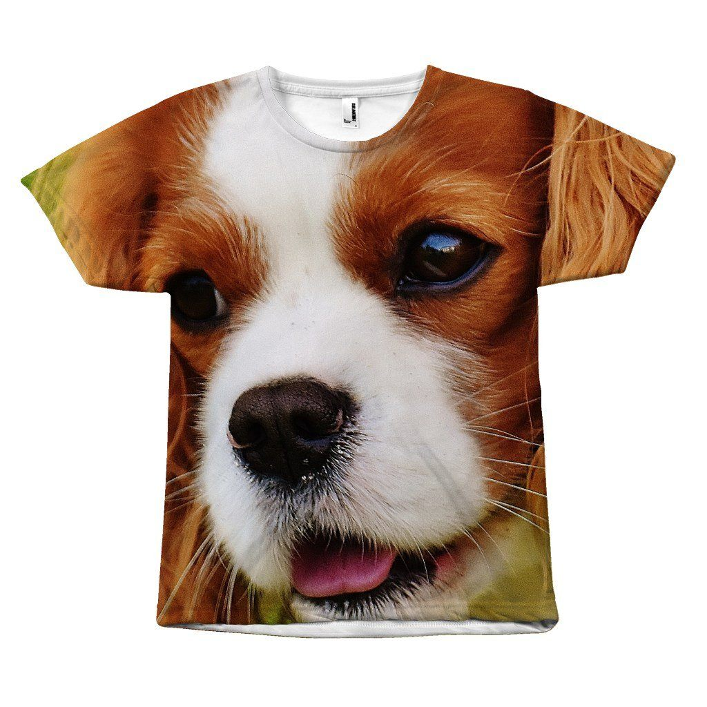 "All Over Print ""Cute Brown Dog Design"" T-Shirt All Over Print teelaunch Brown Dog S"