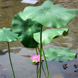Artificial Lotus Leaf With Long Stem Fish Pond Decoration Fish Pond Decorations Pet Clever