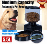 Automatic Food Bowl Pet Feeder with Voice Message Recording Cat Bowls & Fountains Pet Clever