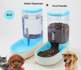Automatic Pet Drinking Bowl and Feeder Cat Bowls & Fountains Pet Clever Blue Water and Dispenser