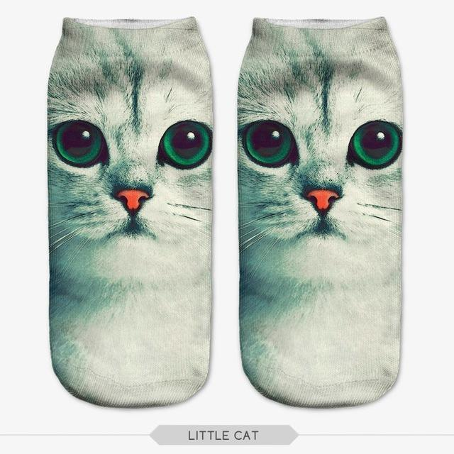 Big Eyes Cat Ankle Socks Cat Design Accessories Pet Clever 14