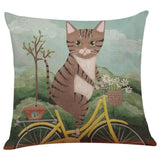Biker Cat Pillow Case Cushion Cover  Cat Design Pillows Pet Clever B