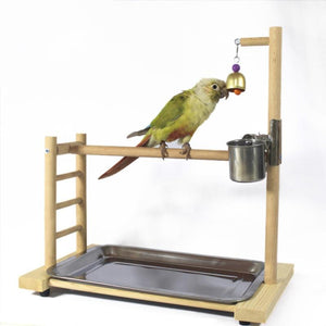 Bird Perches Parrot Playground with Feeder Standing Birds Pet Clever