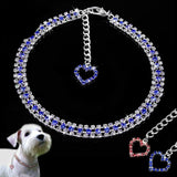 Bling Rhinestone Dog Collar Necklace Dog Leads & Collars Pet Clever