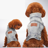 Blue Jean Summer Denim Dog Clothes Dog Clothing Pet Clever Light Blue S