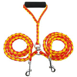 Braided Tangle Free Dual Dog Leash Dog Leads & Collars Pet Clever Yellow