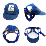 Breathable Cute Dog Baseball Sun Cap With Ear Holes Dog Clothing Pet Clever
