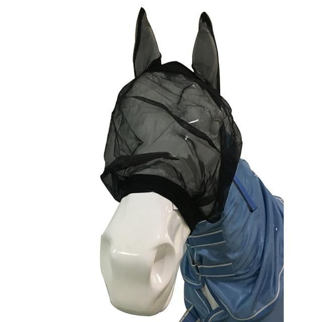 Breathable Horse Insects Protection Mask Horse Mask Pet Clever Style 1