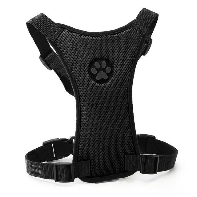 Breathable Nylon Mesh Pet Car Seat Adjustable Leash Harnesses Dog Harness Pet Clever Black S