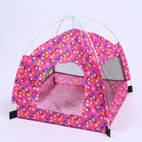Breathable Pet Indoor Tent Dog Tent Pet Clever rose red