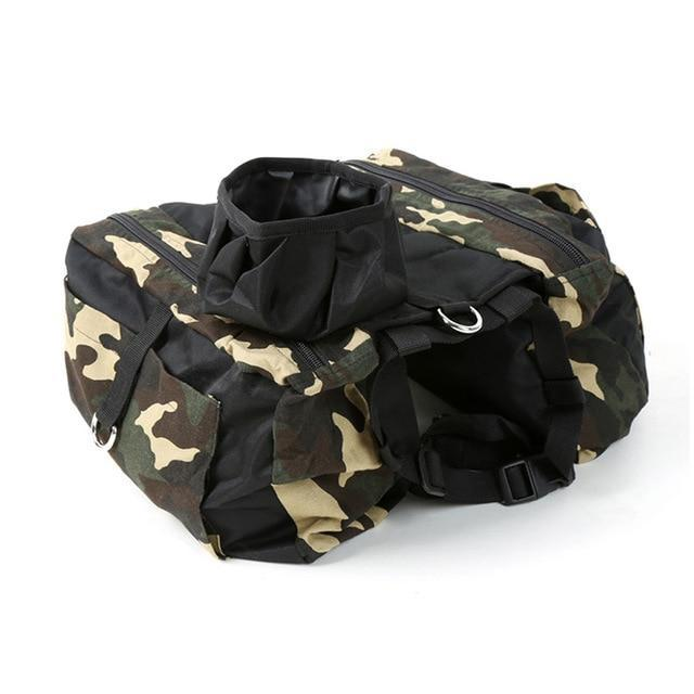 Camouflage Pet Outdoor Backpack Dog Harness Pet Clever M