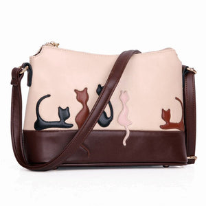 Cartoon Cat Emboss Pattern Crossbody Cat Design Bags Pet Clever