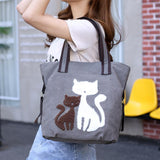 Casual Cute Lady Cat Design Shoulder Bags Cat Design Bags Pet Clever