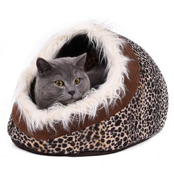 Cat Cave Bed House With Removable Cushion & Waterproof Bottom