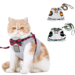 Cat Collar Adjustable Harness Leash British Style