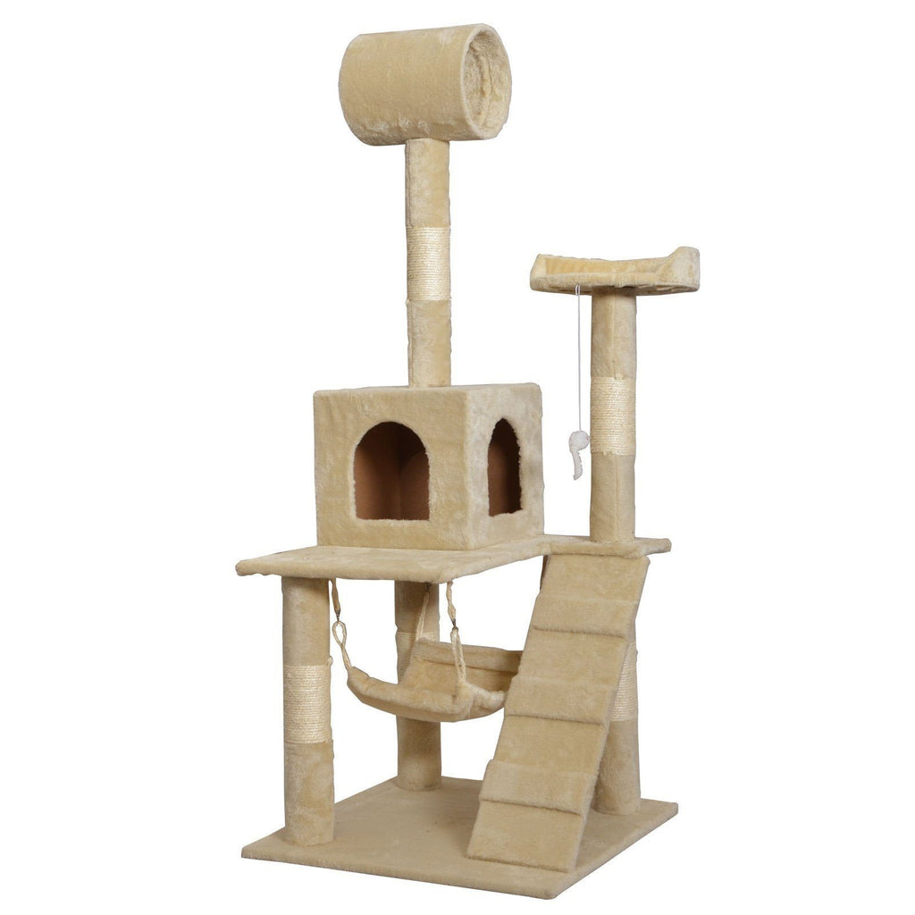 Cat Condo Tree Scratching Post Cat Trees & Scratching Posts Pet Clever Beige