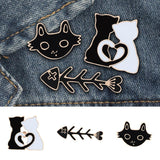 Cat Design Clothes Brooches Cat Design Accessories Pet Clever