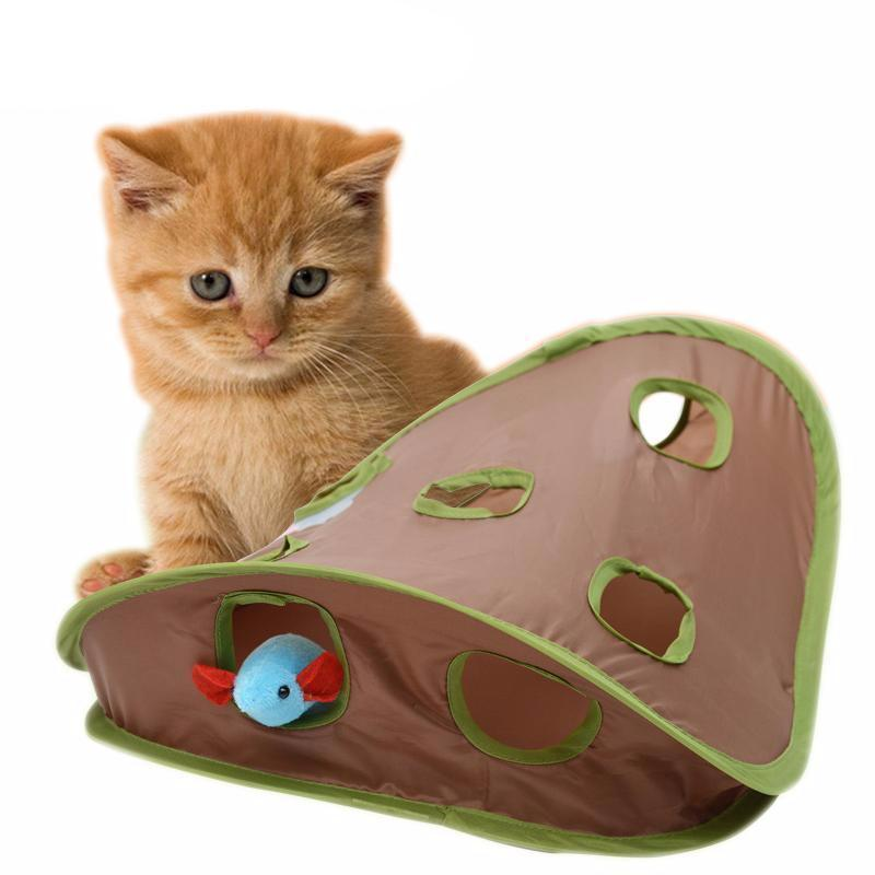 Cat Developmental Toy Hide-and-seek Mouse Tunnel Toy Cat Toys Pet Clever