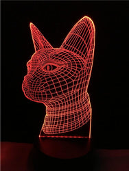 Cat Head 3D Lamp