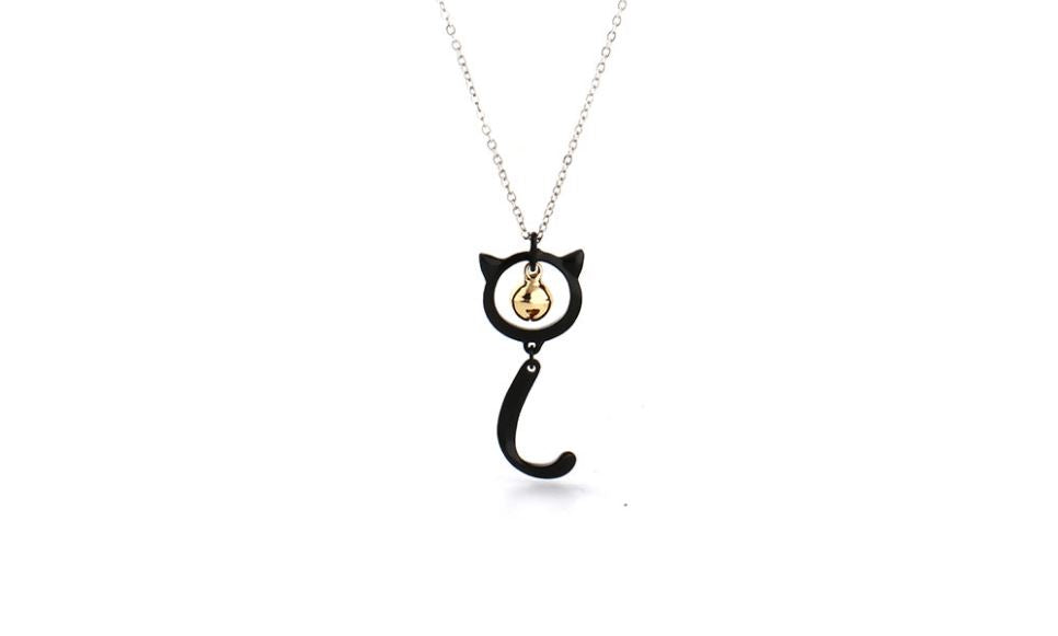 Cat Noir Miraculous Ladybug Necklace with Bell Charm Cat Design Jewelry Pet Clever