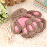 Cat Paw Gloves Cat Design Accessories Pet Clever Light Coffee