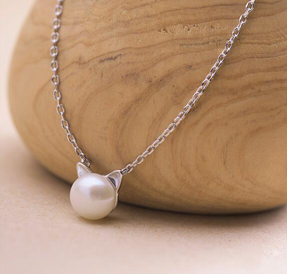 Cat Pearl Necklaces & Pendants Cat Design Jewelry Pet Clever