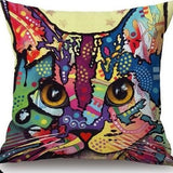 Cat Pillow Cover Pop Style Cat Design Pillows Pet Clever Cat 1