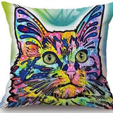 Cat Pillow Cover Pop Style Cat Design Pillows Pet Clever Cat 2