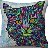 Cat Pillow Cover Pop Style Cat Design Pillows Pet Clever Cat 3
