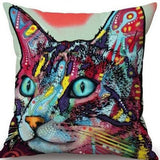 Cat Pillow Cover Pop Style Cat Design Pillows Pet Clever Cat 4
