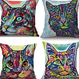 Cat Pillow Cover Pop Style Cat Design Pillows Pet Clever