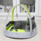 Cat Playground House Bed with Dangling Toys Cat Beds & Baskets Pet Clever