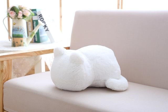 Cat Plush Cushion Pillow Cat Design Accessories Pet Clever white