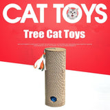 Cat Post Scratching Board Puzzle Rock Toy Game With Ball Catnip Cat Post Scratching Board Puzzle Rock Toy Game With Ball Catnip Pet Clever