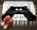 Cat Printed Anti-Slip Mat Home Decor Cats Pet Clever