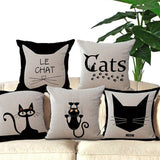 Cat Printed Decorative Sofa Throw Pillow Cat Design Pillows Pet Clever