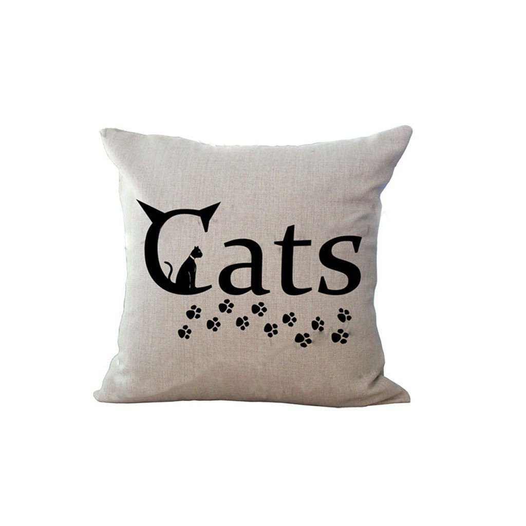Cat Printed Decorative Sofa Throw Pillow Cat Design Pillows Pet Clever 1
