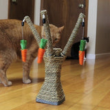Cat Scratching Post With Carrots Tooth Cleaning Chew Radish Cat Toys Pet Clever