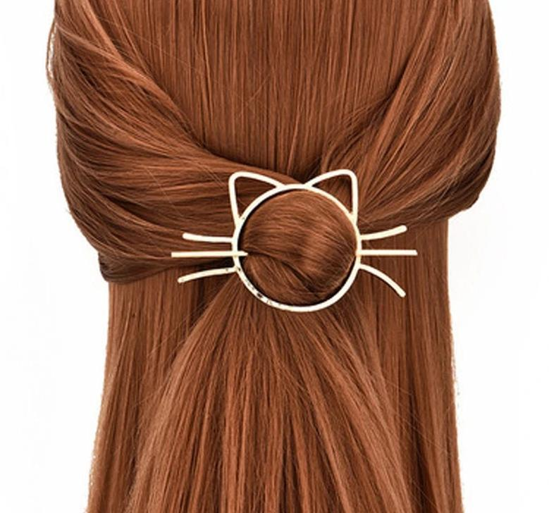 Cat Shape Hair Clip Cat Design Accessories Pet Clever