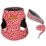 Cat Vest Harness and Leash Set Artist Collars & Harnesses Pet Clever Red XS