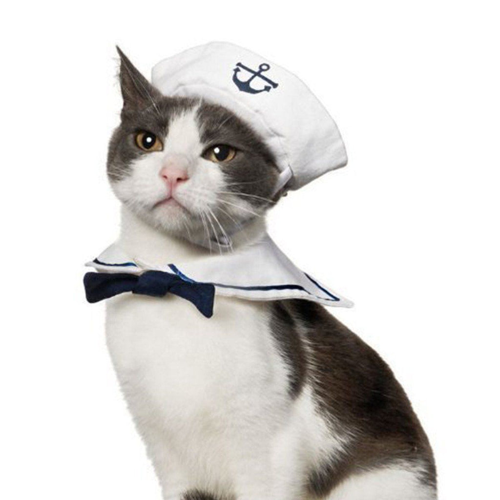 Cats Cosplay Sailor Costume Cat Clothing Pet Clever