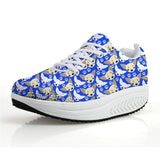 Chihuahua Dog Print Flat Platform Creepers Shoes Dog Design Footwear Pet Clever 5 5