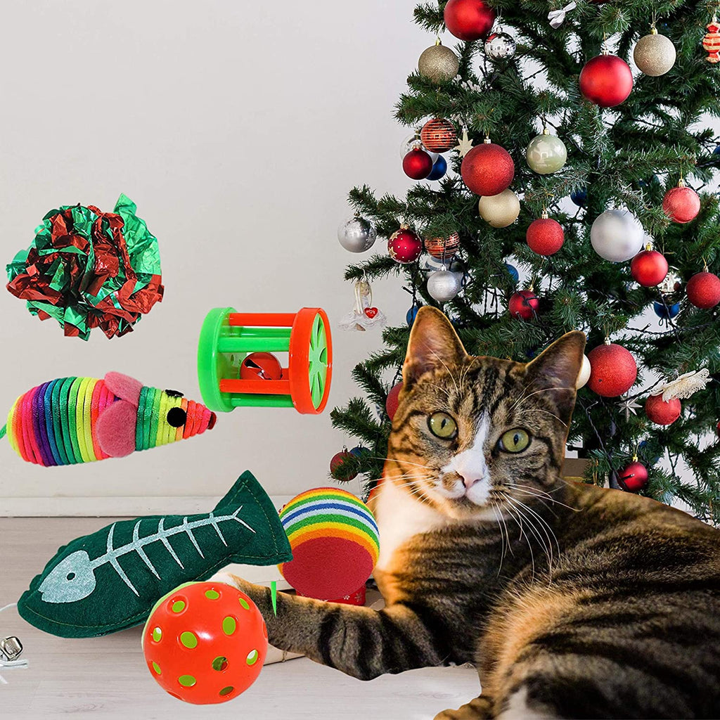 Christmas Cat Toys Cat Bowls & Fountains Pet Clever