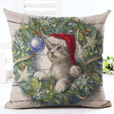 Christmas Design Decorative Pillow Case Home Decor Dogs Pet Clever