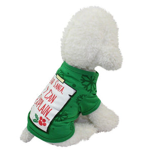 Christmas Pet Round Neck Clothing Cat Clothing Pet Clever XS