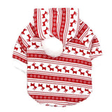 Christmas Pet Thicken Sweatshirts Cat Clothing Pet Clever XS C