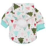Christmas Pet Thicken Sweatshirts Cat Clothing Pet Clever XS A